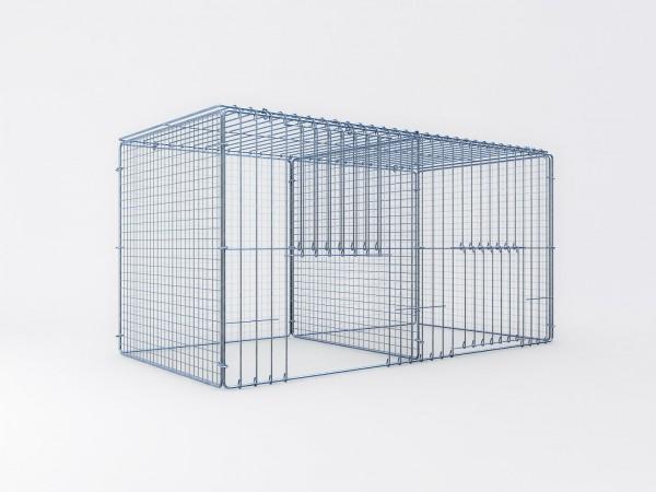Ausstellungskäfig 100x50x50cm, 2 Abteile