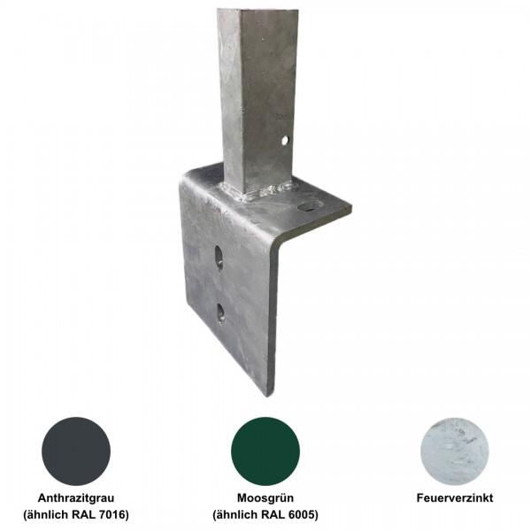 Rohrstutzen für Profilrohrpfähle (L-Form)