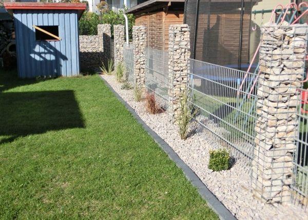 Gabionensaulen Steinsaulen Als Gartengestaltung Gabionen24