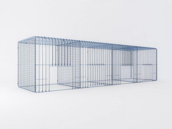 Ausstellungskäfig 200x50x50cm, 4 Abteile