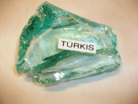 Glassteine Türkis Körnung 80-120mm