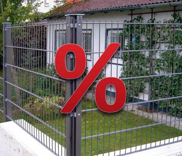 % WINTERSALE % Restposten % Doppelstabmatten und Pfosten Nur solange Vorrat reicht