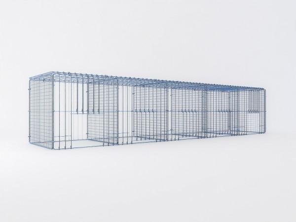 Ausstellungskäfig 200x40x40cm, 5 Abteile