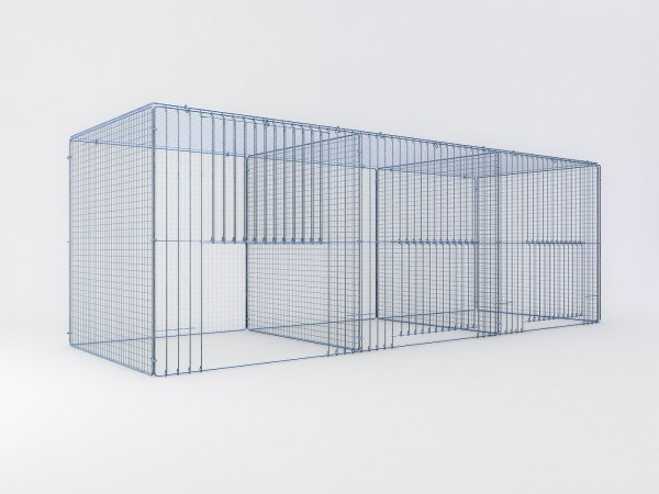 Ausstellungskäfig 210x70x70cm, 3 Abteile