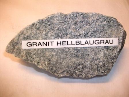 Granit-Steine hellgraublau Körnung 60-90mm