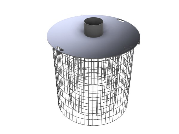 Gabionen-Feuerplattengrill Set