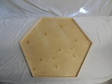 Boden für Voliere 6-eck 160cmØ