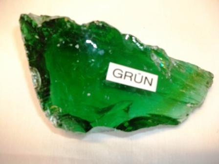 Glassteine waldgrün Körnung 80-120mm