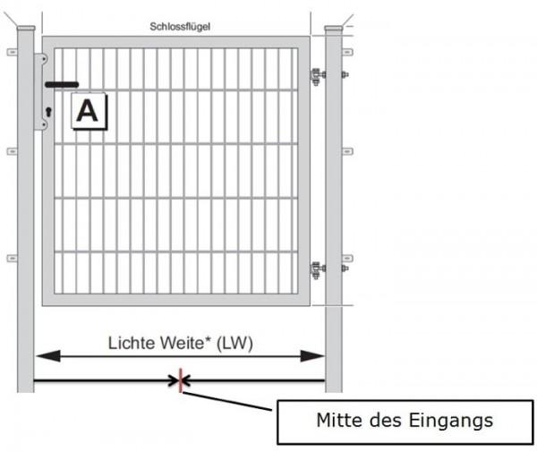 Aufbau-Doppelstabmattentor