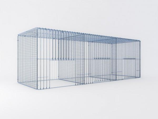 Ausstellungskäfig 180x60x60cm, 3 Abteile